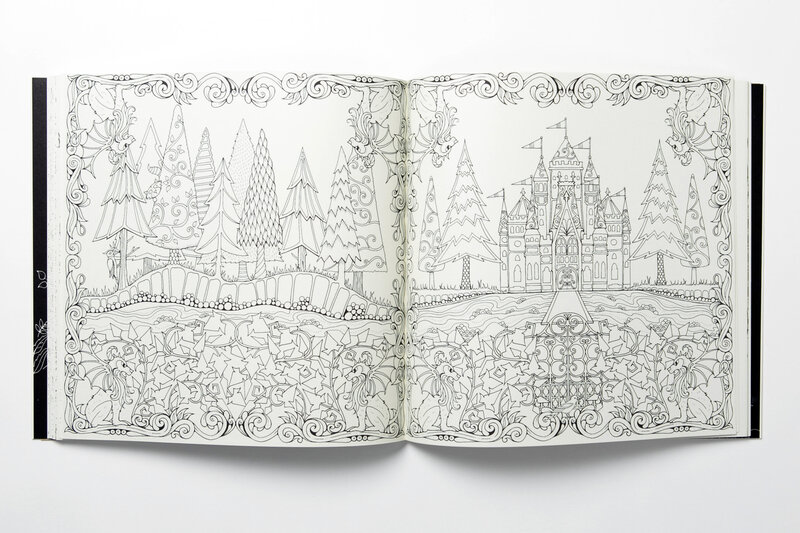 A Spread From Enchanted Forest An Inky Quest And Coloring Book By Johanna Basford