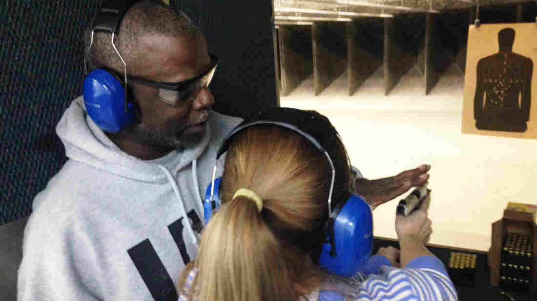 Rick Ector trains new gun owners at a range just outside of Detroit. He supports more African-Americans getting permits to carry concealed weapons.