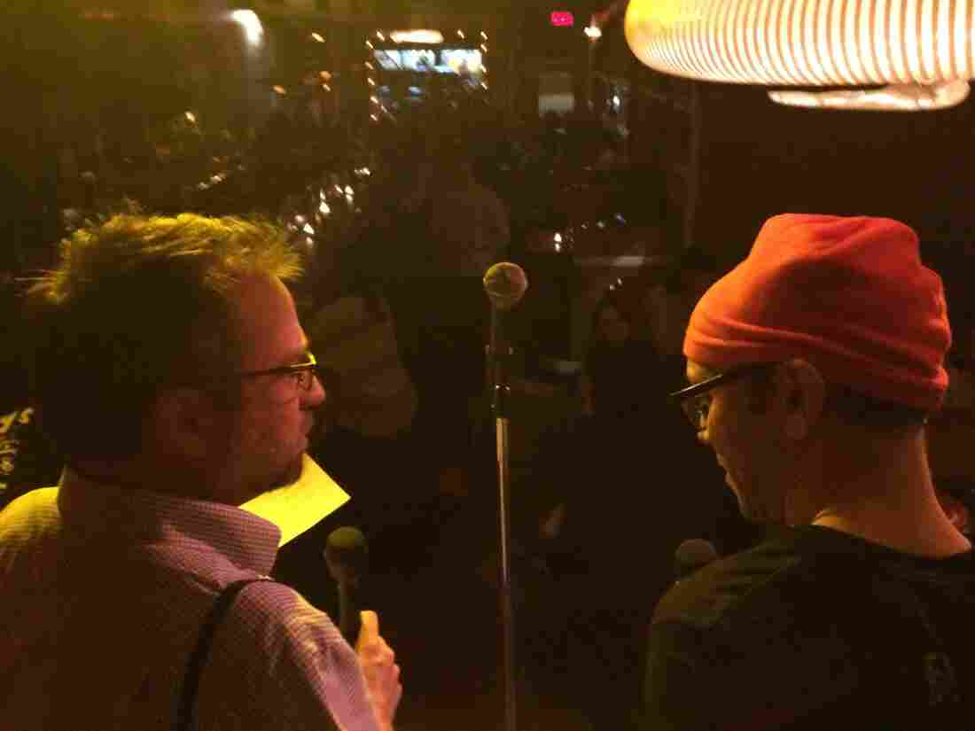 Two Radio Reporters Walk In To A Bar
