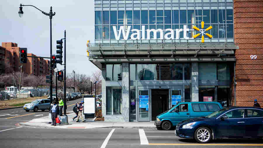 The H Street Wal-Mart in Washington, D.C. Ten years ago, none of the city's 600,000 residents lived within 1 mile of a Wal-Mart. Today, almost 13 percent do.