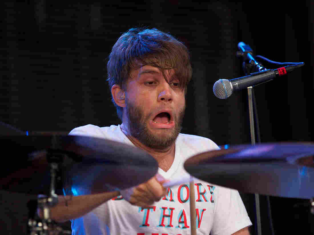 Drummer face of the week, courtesy Grant Hutchison of the band Frightened Rabbit
