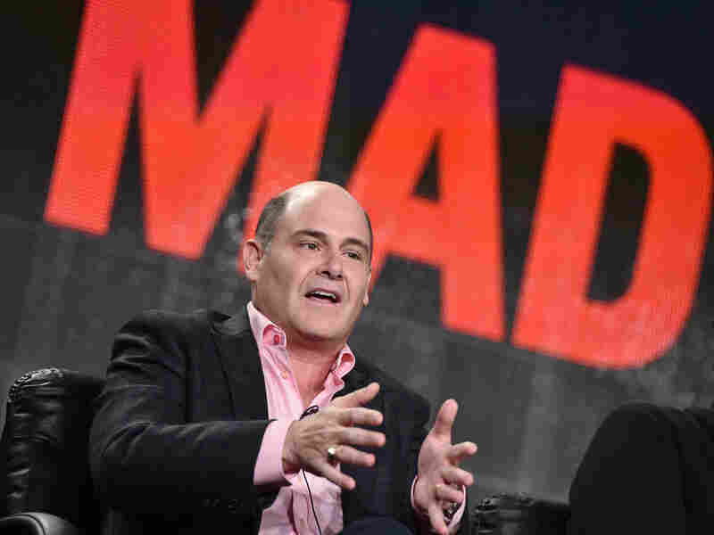 Matthew Weiner, creator and executive producer of Mad Men, speaks at a press conference in January.