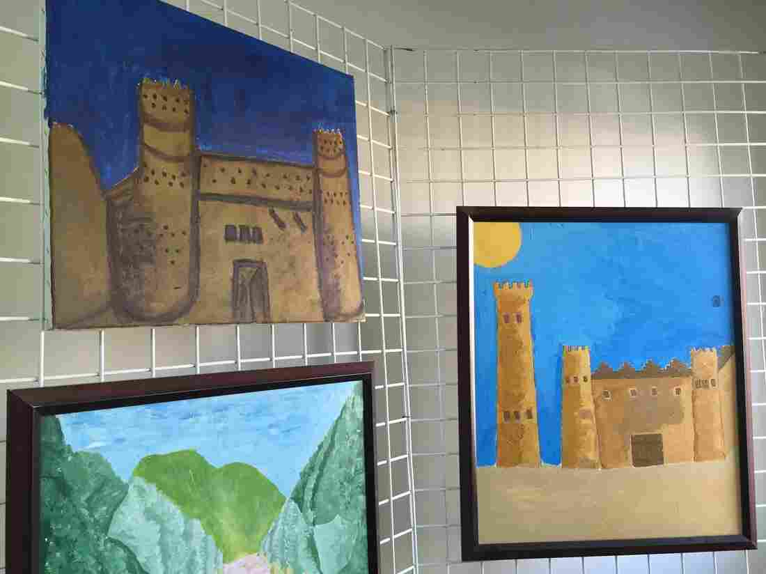 """Many inmates draw pictures of castles. Al-Yami, the art therapist, interprets them to mean, """"I'm not going to give you any information. I'm behind the wall and you can't get through."""""""