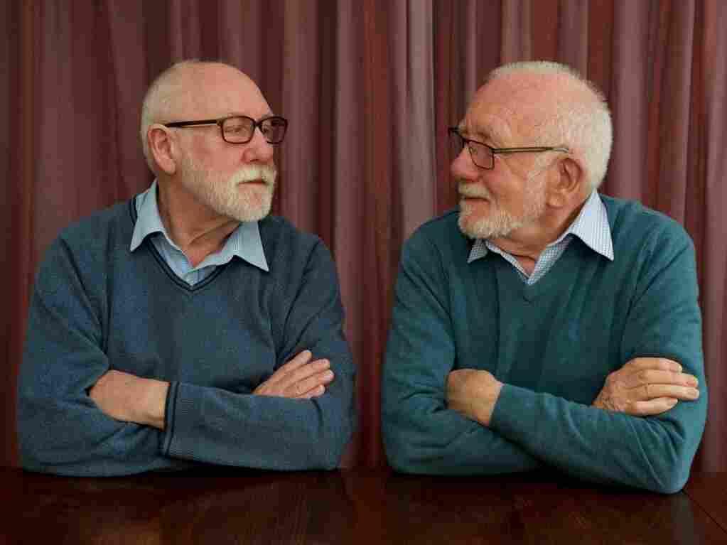 Neil Richardson (left) and John Jemison even fold their arms the same way.