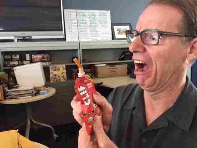 Robert looks before he tastes.