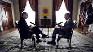 NPR Morning Edition host Steve Inskeep interviews President Obama on April 6 at the White House.