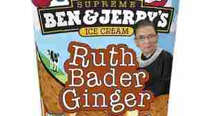 An imagined ice cream flavor named after Ruth Bader Ginsberg.