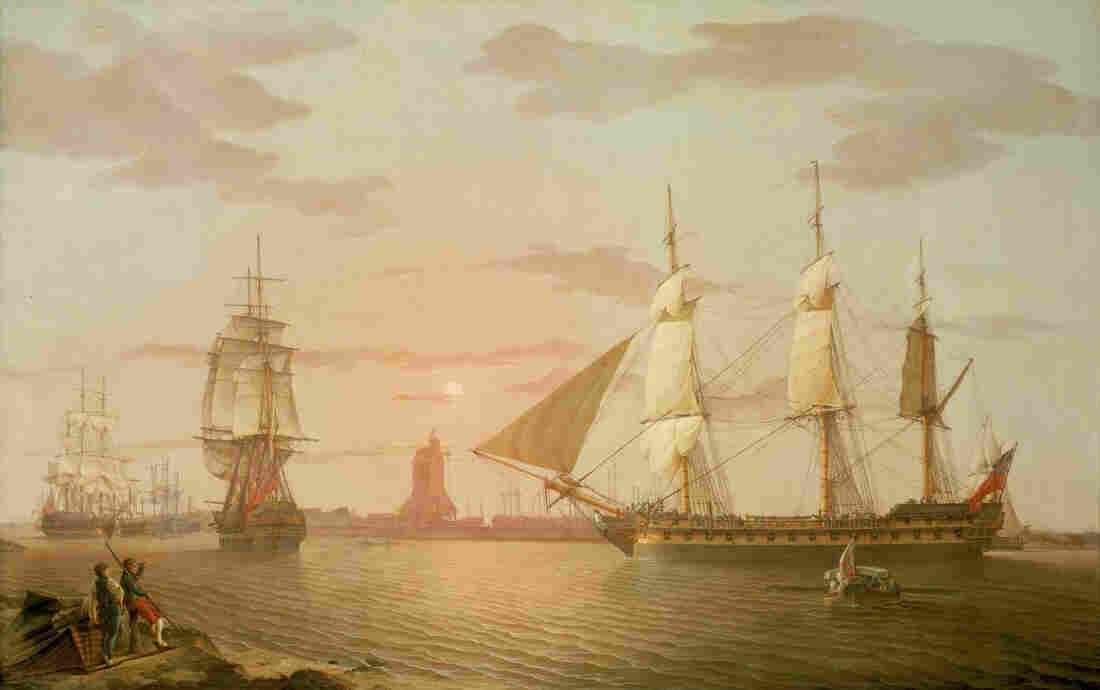 The Warley, a ship belonging to the British East India Company at the turn of the 19th century