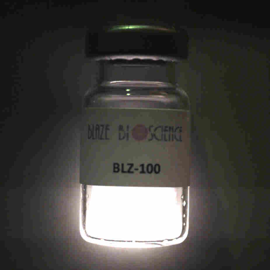 """Blaze Bioscience is commercially developing the """"paint,"""" which glows when exposed to near-infrared light."""