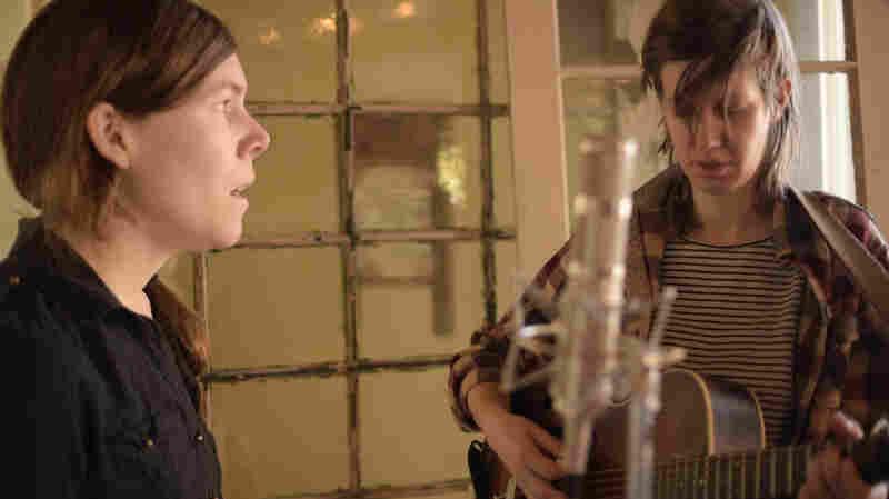 Anna Roberts-Gevalt and Elizabeth LaPrelle (a.k.a. Anna & Elizabeth) perform live for Folk Alley.