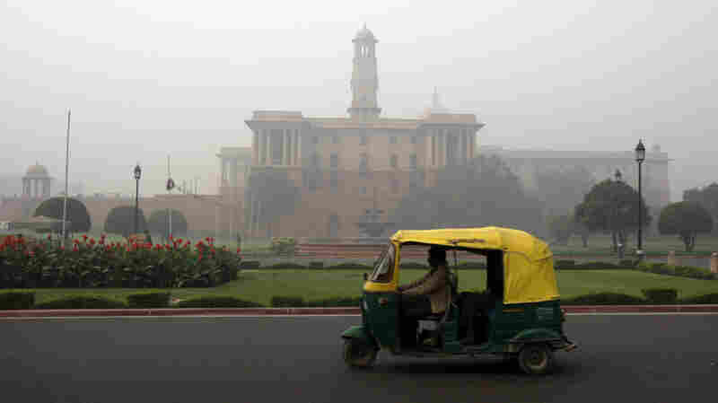 An auto-rickshaw in New Delhi. You can use an Uber app in the Indian capital to hail the three-wheeled vehicles.