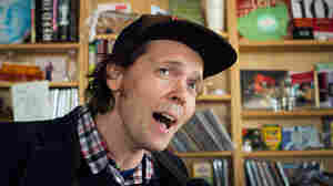 James Snyder from the band Beach Slang performs a Tiny Desk Concert on March 6, 2015.