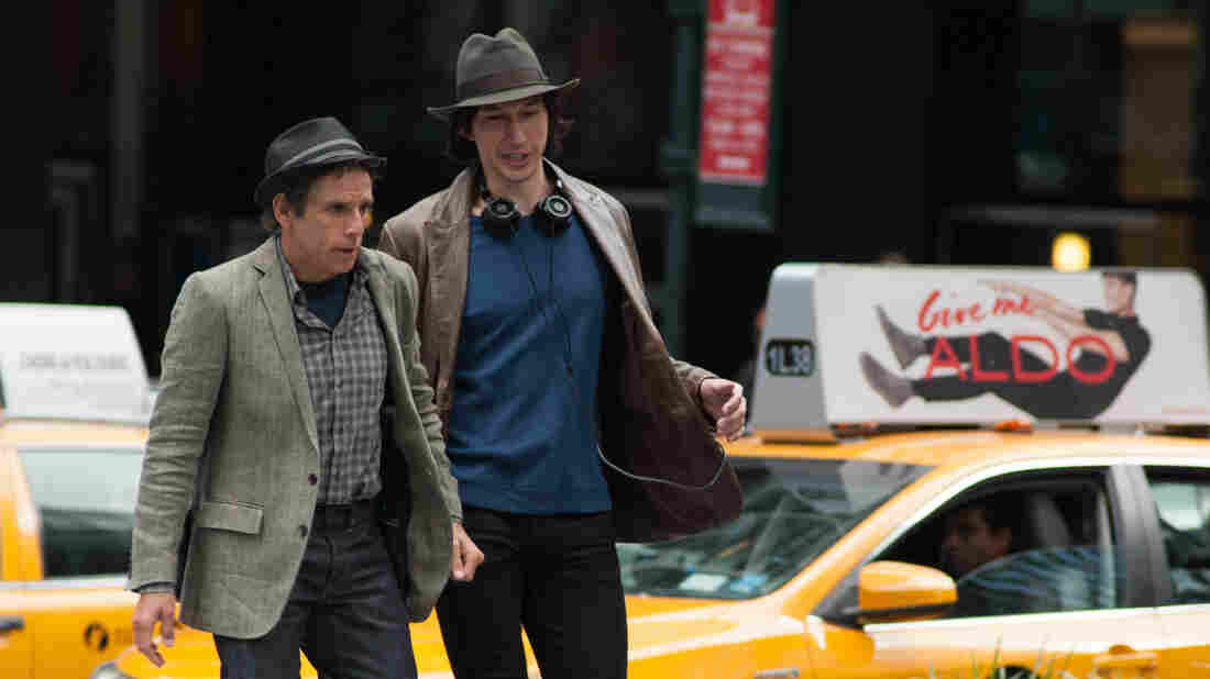 In While We're Young, Adam Driver (right) plays a young filmmaker who befriends an older, unsuccessful filmmaker played by Ben Stiller.