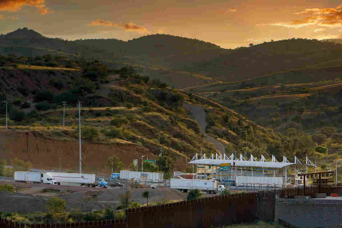 The Mariposa border crossing, as seen from Nogales, Ariz., September 2013. This land port serves as the main point of entry into the U.S. for fresh produce from Mexico. A lot of that produce gets rejected just past the border, even though it's perfectly tasty and edible.
