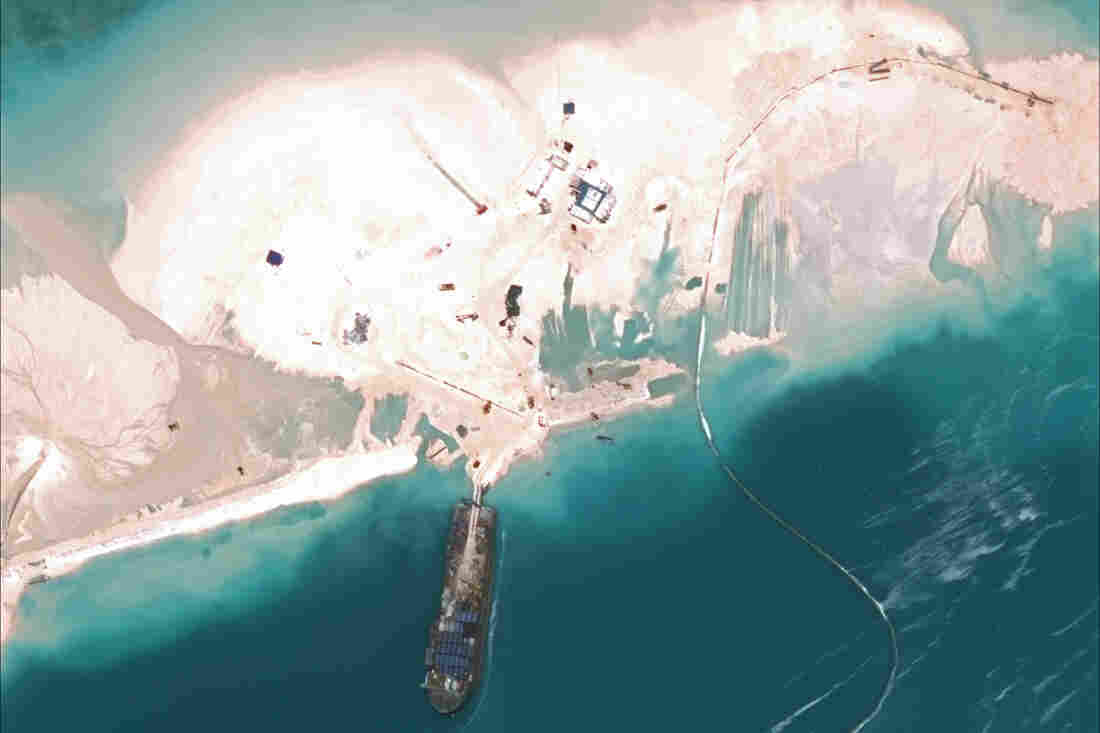 Great Wall Of Sand China Builds Islands In Contested