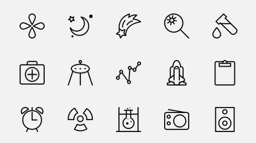 The Noun Project uses crowdsourcing to gather an army of people to define words using icons. This is just a small selection of the huge icon dictionary.