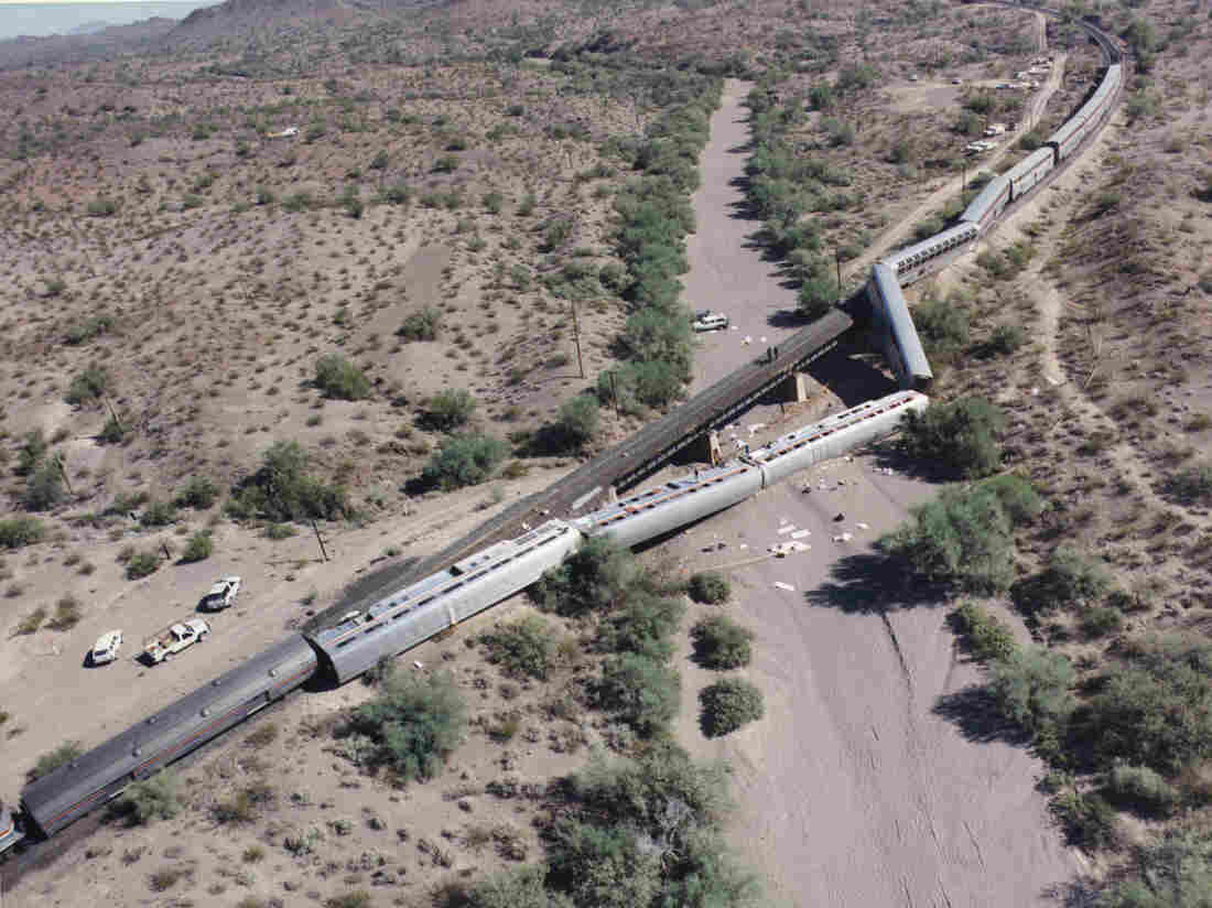 On October 9, 1995, the Amtrak Sunset Limited passenger train derailed in the Arizona desert over 50 miles from Phoenix. Nearly 100 passengers were injured and one Amtrak employee was killed.