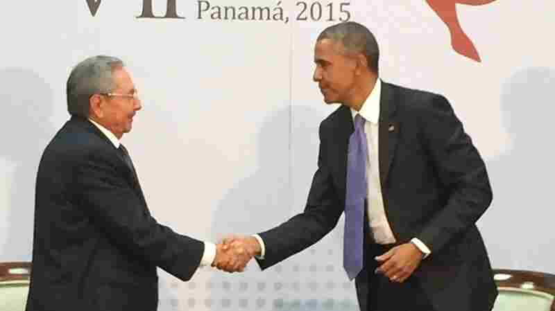 President Obama, seen shaking hands with Raul Castro at the Summit of the Americas in Panama, engaged in the first substantive face-to-face U.S.-Cuba talks in more than 50 years.