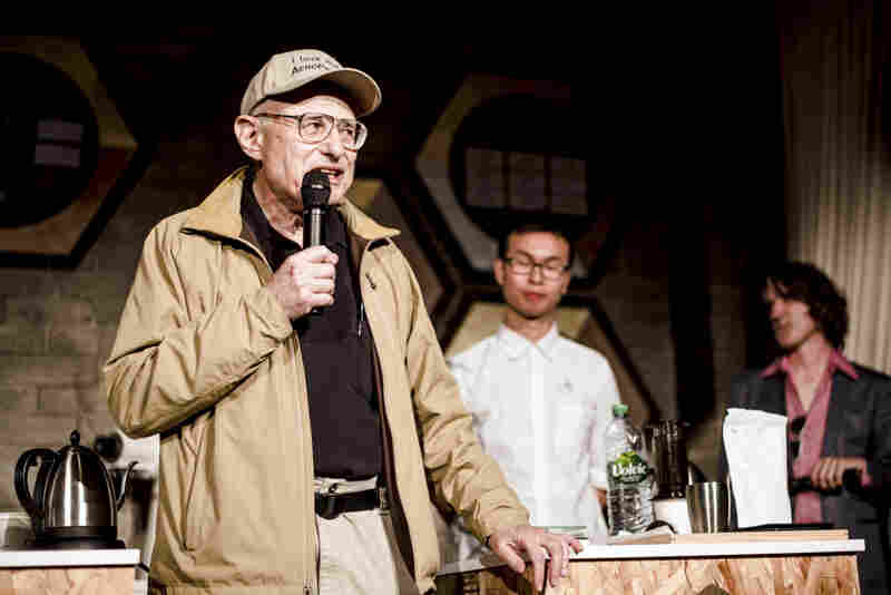 This year's special guest at the world championship, AeroPress inventor Alan Adler, received a warm welcome as he took the stage in Seattle.