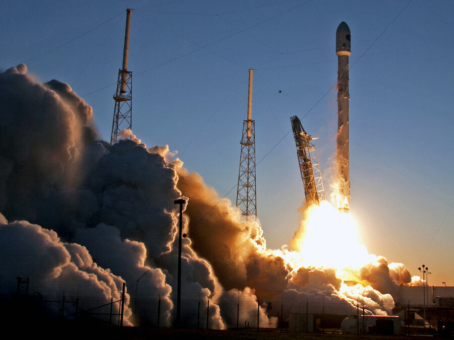 storm clouds delay spacex spacecraft launch