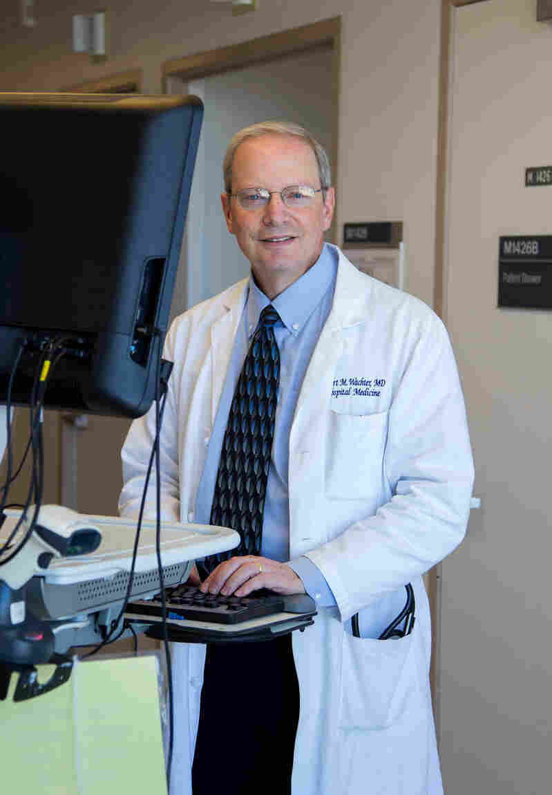 Dr. Robert Wachter writes that computers have crowded out eye contact between the doctor and patient, in his latest book, The Digital Doctor: Hope, Hype, and Harm at the Dawn of Medicine's Computer Age.