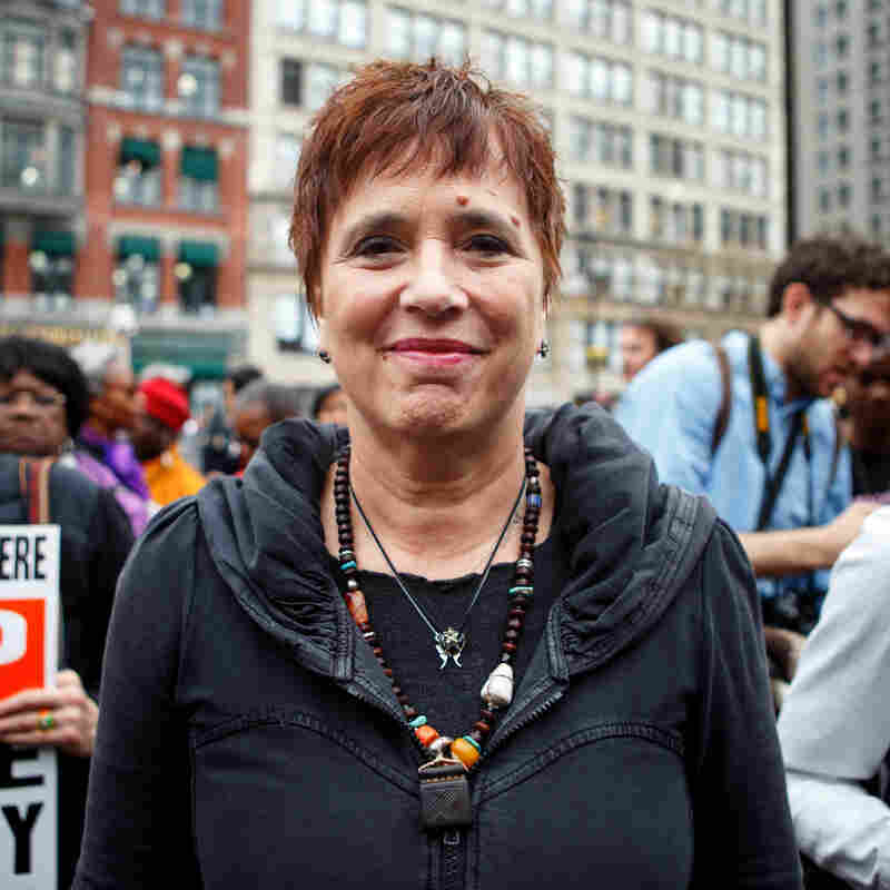 """""""I really wanna say as a white person: those of us who walk with privilege...every white person in America should be out here today."""" - playwright Eve Ensler"""