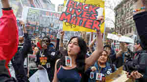 Students across New York City staged walkouts from school to join a Black Lives Matter protest in Union Square on April 14, 2015.