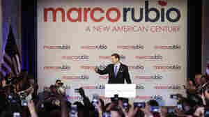 Florida Sen. Marco Rubio waves at supporters in Miami Monday.