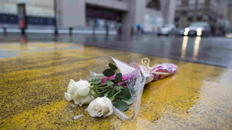Flowers were placed at the site of the Boston Marathon finish line on Boylston Street last week. The city will mark the second anniversary of the deadly bombing Wednesday.