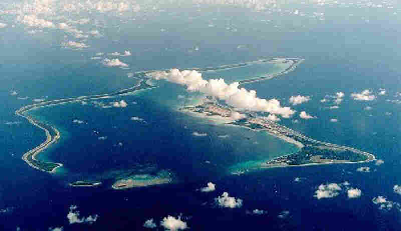 The U.S. Navy Support Facility at Diego Garcia, part of the Chagos archipelago.