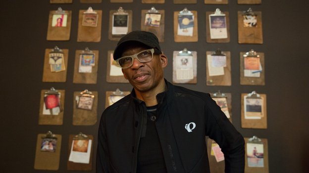 Hank Shocklee, of Public Enemy's production team The Bomb Squad, in Austin, Texas for an interview with Microphone Check. (NPR)