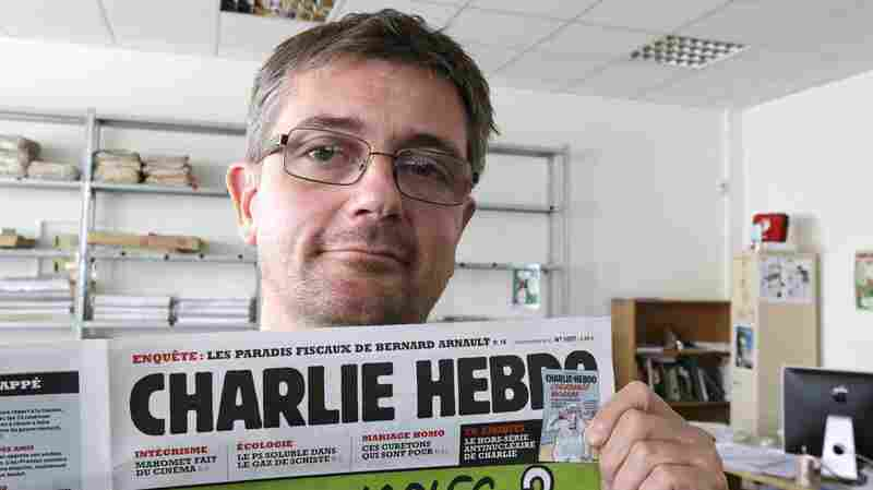 """Stephane """"Charb"""" Charbonnier, editor of Charlie Hebdo, is seen on Sept.19, 2012. The late editor takes on politicians, the media and """"Islamophobia"""" in a posthumously published book completed two days before he was killed Jan. 7."""
