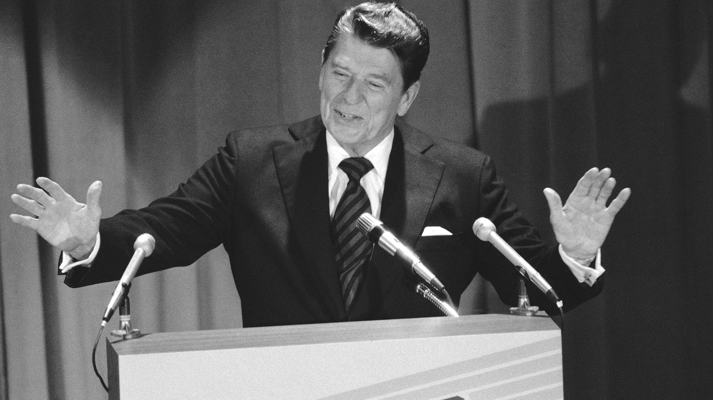 throwback thursday: reagan announces run for president : it's all