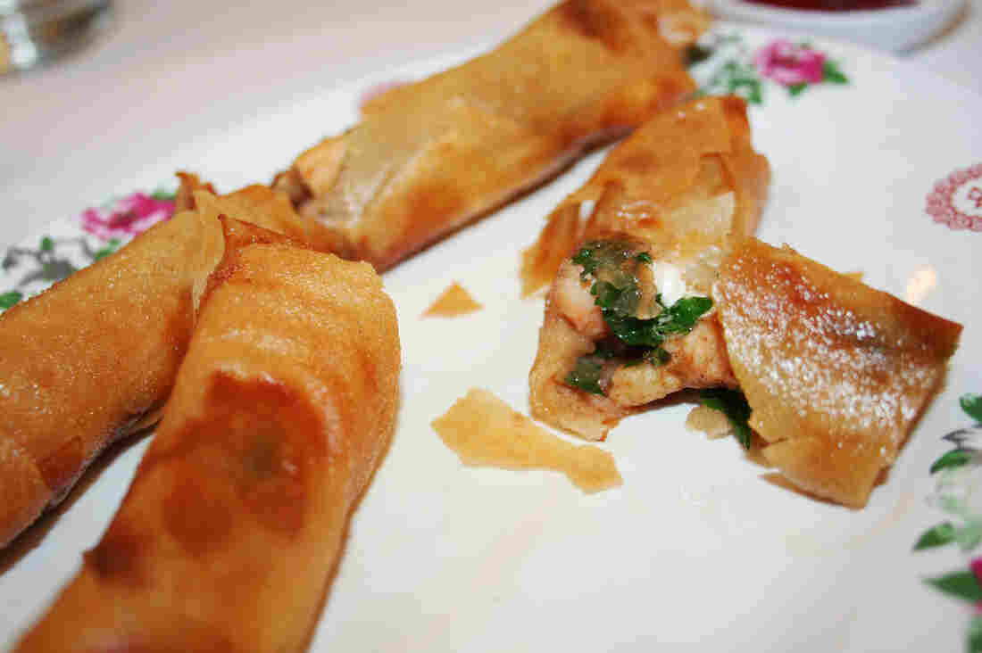 The egg roll at El Dragon in Mexicali, Mexico, is a Chinese-Mexican-American combo: shrimp, cilantro and cream cheese.