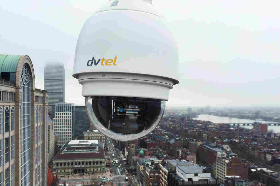 Temporary video cameras have been installed along the route of the Boston Marathon. Some will become a permanent part of the city's surveillance network after the race is over.