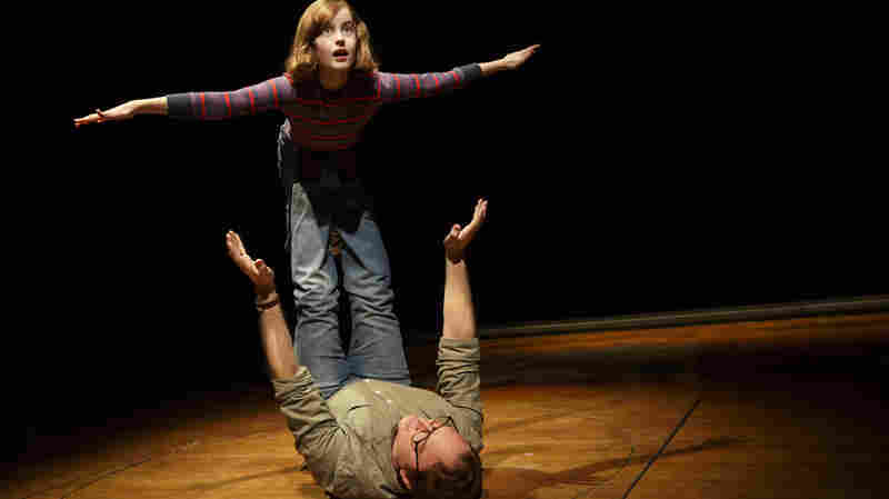 Sydney Lucas as Small Alison and Michael Cerveris as her father in the new production of Fun Home.