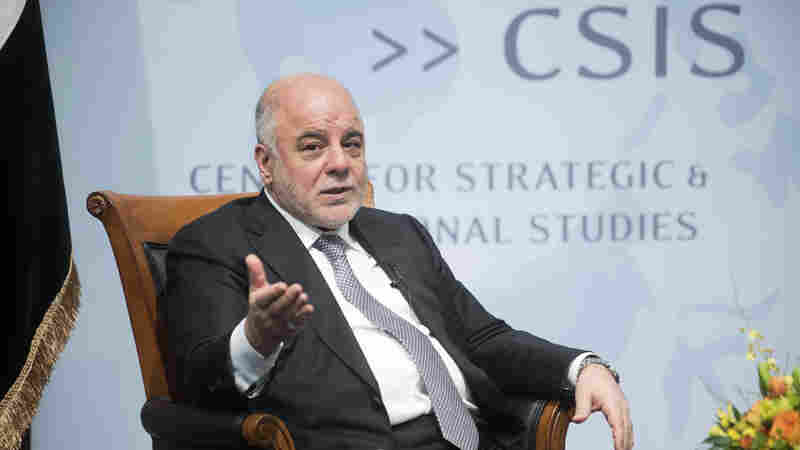 Iraq's Prime Minister Haider al-Abadi, speaking Thursday in Washington, said recent battlefield victories showed the Islamic State could be defeated. The extremist group still holds large parts of the west and the north of Iraq.