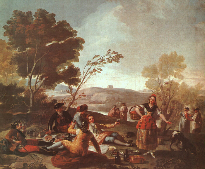Sexy Simple Satirical 300 Years Of Picnics In Art The Salt Npr