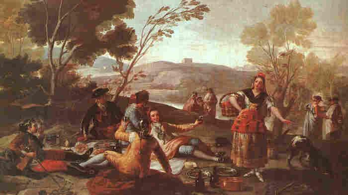 Francisco de Goya's Picnic En La Ribera Del Manzanares (Picnic on the Banks of the Manzanares), 1776