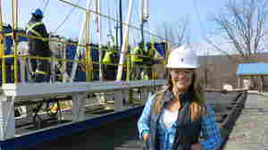 After completing training in 2013, Claire Kerstetter now works as a fluid technician on fracking jobs.