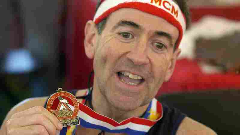 Huckabee ran the Marine Corps Marathon in 2005.