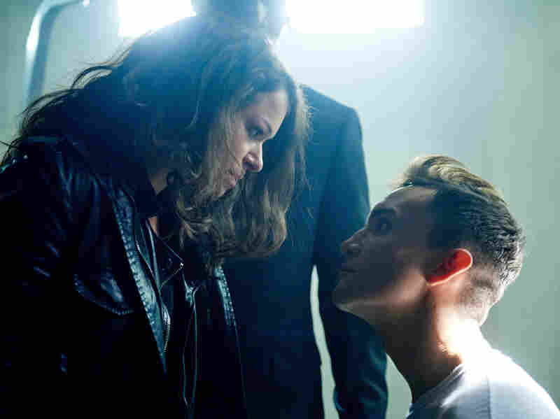 Tatiana Maslany, as Sarah, confronts Project Castor clone Rudy, played by Ari Millen.