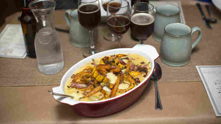 This Dutch hotchpot includes roasted vegetable native to New York and smoked salt pork in a cornmeal porridge inspired by Lenape Indian cooking.