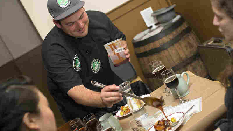 Chef Andrew Gerson of Brooklyn Brewery organized a dinner party featuring ingredients used by Dutch settlers and Native Americans living in 1650s New York City.
