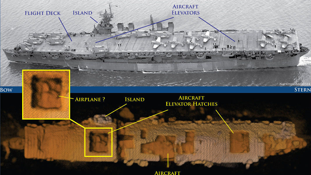 WWII Aircraft Carrier Is Found Amazingly Intact On Ocean Floor - Location of us aircraft carriers map