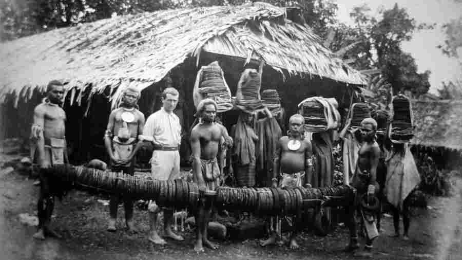 This photograph of Native Hawaiians with a European lay worker was taken in 1892. By 1920, the remaining population of Native Hawaiians was just 24,000 people, according to some estimates.