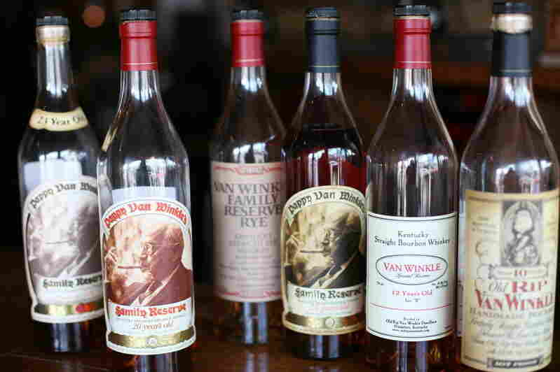 Pappy Van Winkle bourbons at Bourbons Bistro in Louisville, Ky. The spirit was pricey even before a heist at the distillery.