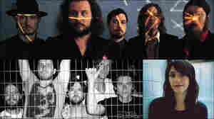 Clockwise from upper left: My Morning Jacket, Sharon Van Etten, Matt Pond PA, Desaparecidos