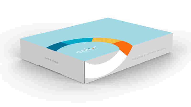 Test-kit-in-a-box, from Color Genomics.