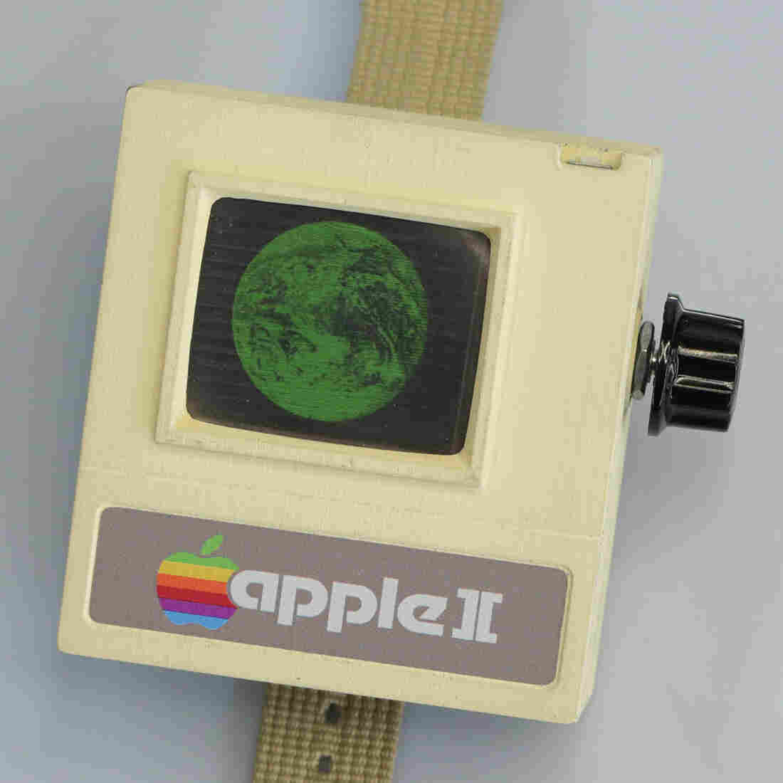 The Apple II Watch is meant to parody the Apple Watch and show what wearables might have looked like in the 1980s.
